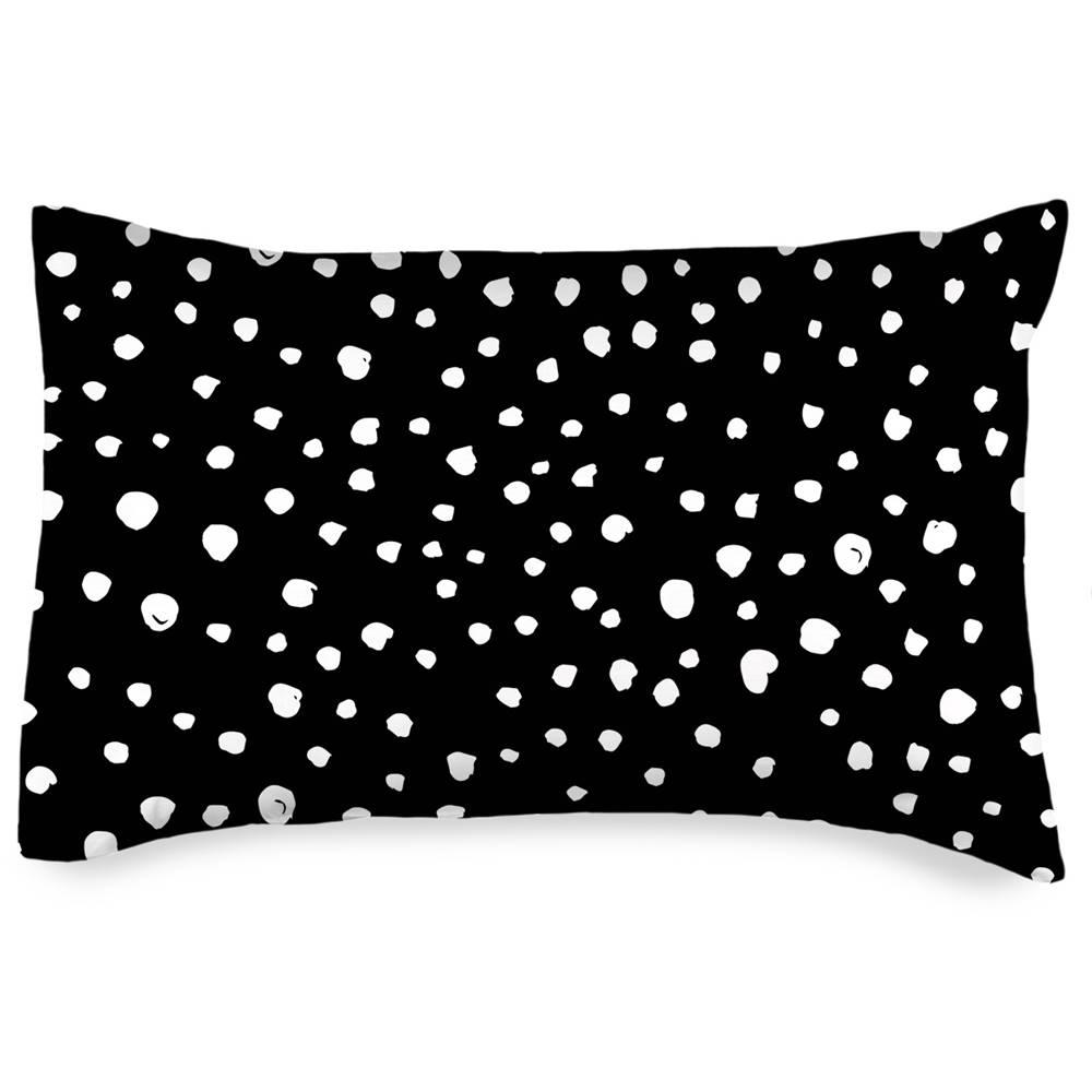 4Home 4home Obliečka na vankúšik Bodky Dalmatín čiernobiela, 50 x 70 cm