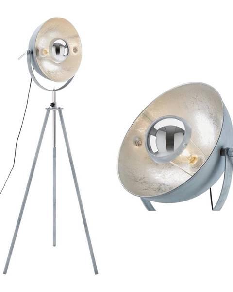 Sivá stajaca lampa Möbelix