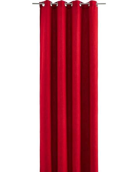 Červený záves Möbelix