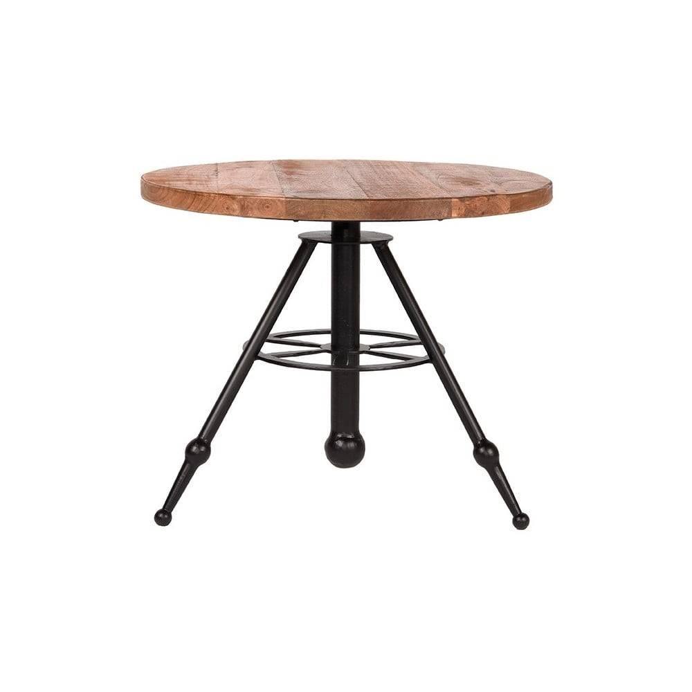 LABEL51 Odkladací stolík s doskou z mangového dreva LABEL51 Solid, ⌀ 60 cm