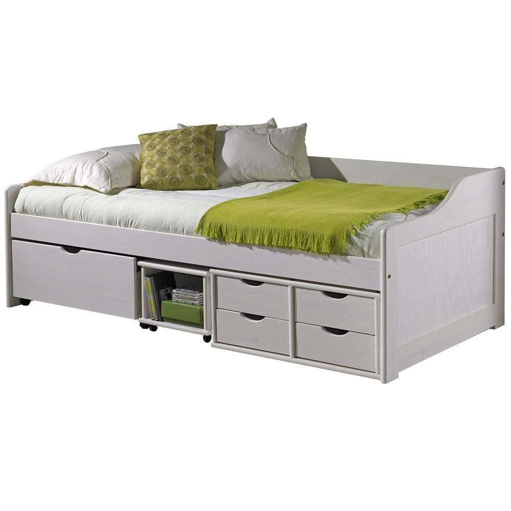 IDEA Nábytok Jednolôžko so zásuvkami MAXIMA biele