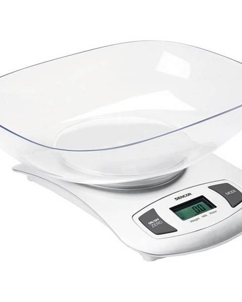 Biela kuchynská váha Sencor