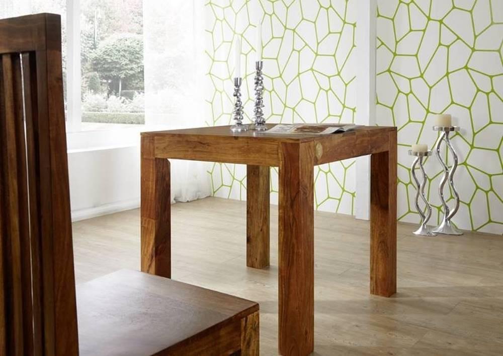 Bighome.sk CAMBRIDGE HONEY Jedálenský stôl 80x80 cm, akácia