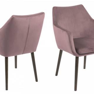 Jedálenská stolička s opierkami NORA, ružová