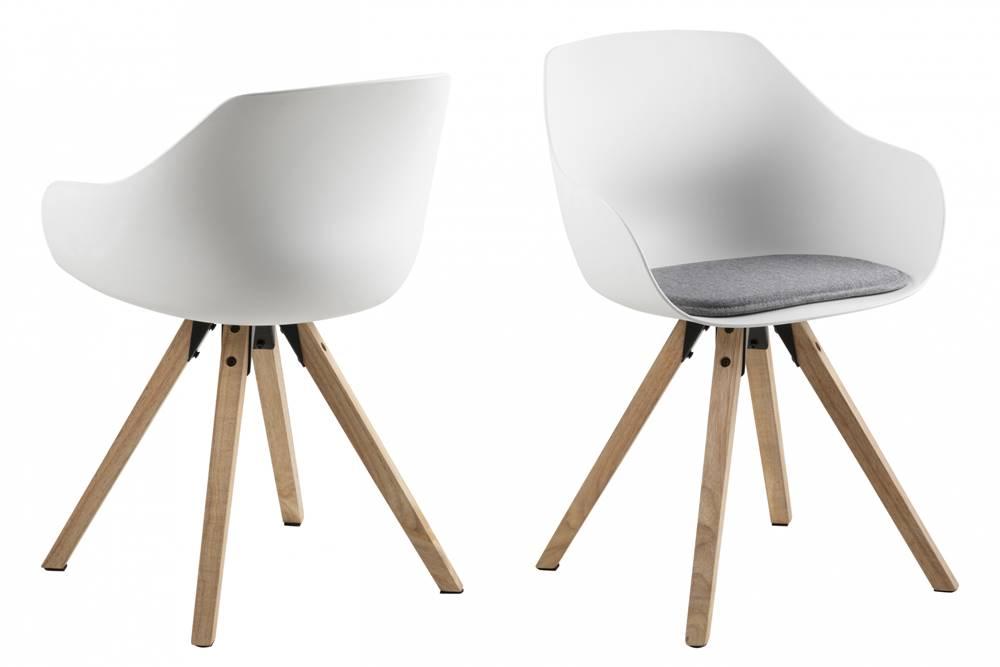Bighome.sk Jedálenská stolička TINA, svetlosivá