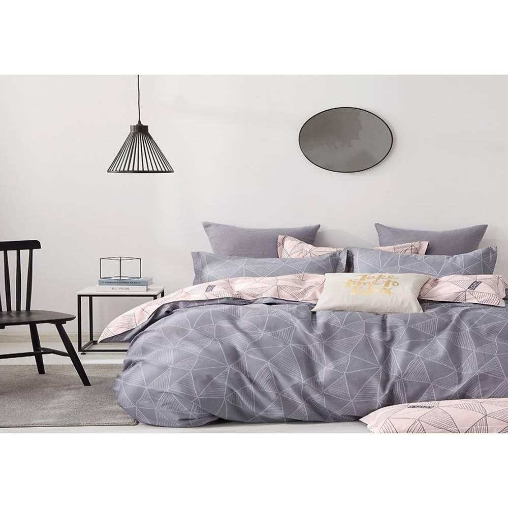 MERKURY MARKET Bavlnená saténová posteľná bielizeň ALBS-01167B/2 140X200 Lasher