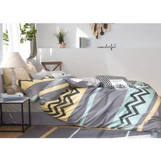 Bavlnená saténová posteľná bielizeň ALBS-01166B/2 140X200 Lasher