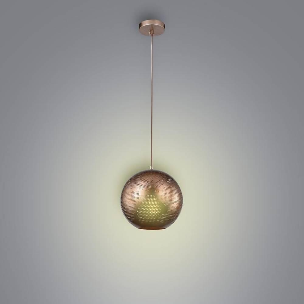 MERKURY MARKET Sfinks Závesné svietidlo 25 Kula W 1x60w E27 Azúrovo svetlo hnedý