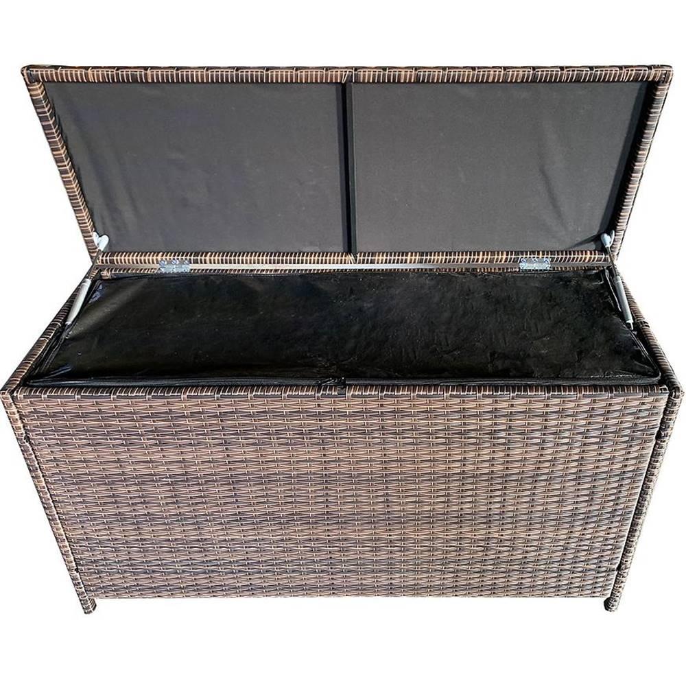 MERKURY MARKET Ratanový box hnedá 115x45x65cm