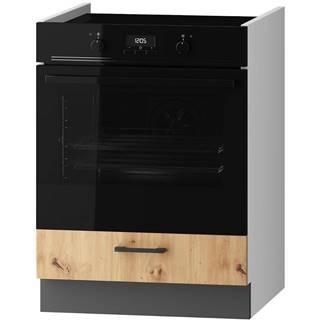 Skrinka do kuchyne Clara DK60 sivý grafit/artisan