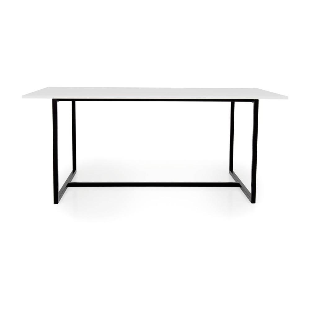 Tenzo Biely jedálenský stôl s čiernou kovovou podnožou Tenzo Mello