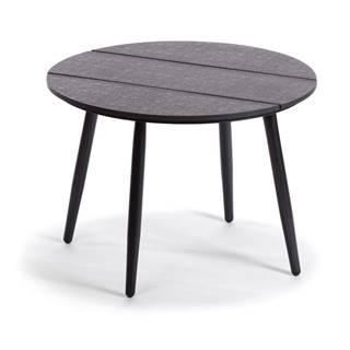 Sivý záhradný stôl Le Bonom Lounge, ø 51 cm