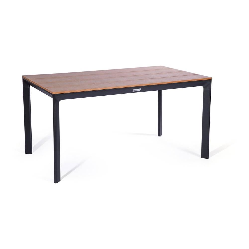 Le Bonom Sivý záhradný stôl s keramickou doskou Le Bonom Thor, 90 x 147 cm