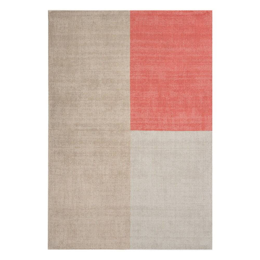 Asiatic Carpets Béžovo-ružový koberec Asiatic Carpets Blox, 120 x 170 cm