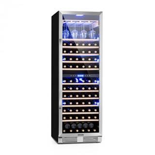 Klarstein Vinovilla Grande Duo, veľkoobjemová vinotéka, chladnička, 425l, 165 fl., 3-farebné LED osvetlenie
