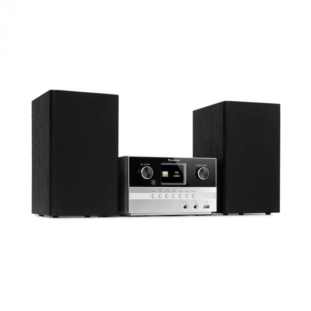 Auna Auna Connect System S, stereo systém + reproduktor, 20 W max., internet/DAB+, strieborný