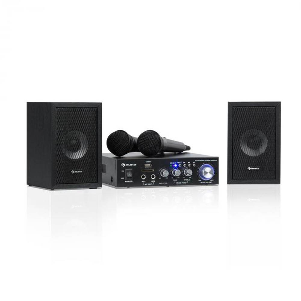 Auna Auna Karaoke Star 2, karaoke sada, 2 x 50 W max., BT, USB/SD, linkový vstup, 2 x mikrofón
