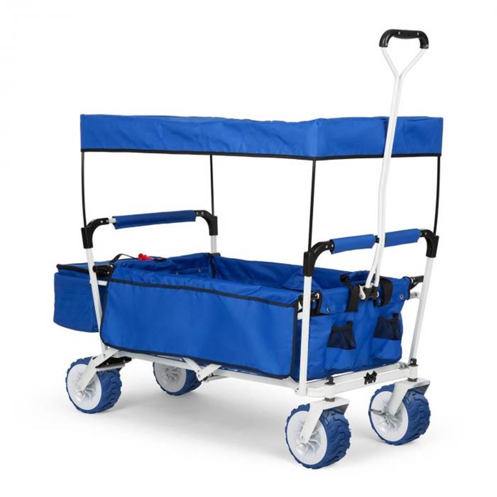 Waldbeck Waldbeck The Blue Supreme, ručný vozík, skladací, 68 kg, strieška proti slnku