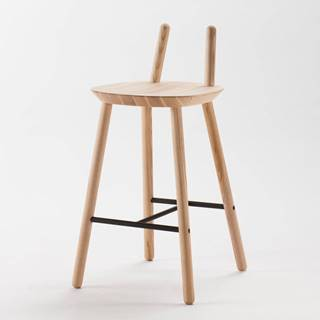 Prírodná barová stolička z masívu EMKO Naïve