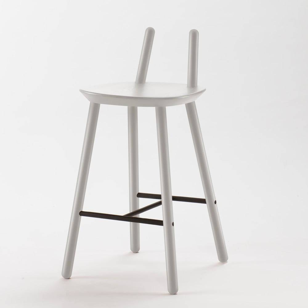 EMKO Sivá barová stolička z masívu EMKO Naïve