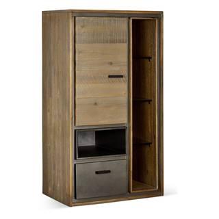 Nástenná skrinka z akáciového dreva FurnhoMalaga Duo
