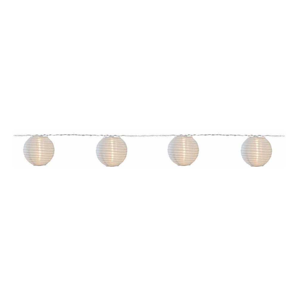 Best Season Biela svetelná LED reťaz s lampiónmi vhodná do exteriéru Best Season Festival, 10 svetielok