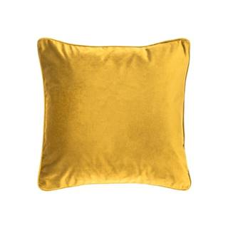 Zeleno-žltý vankúš Tiseco Home Studio Velvety, 45 x 45 cm