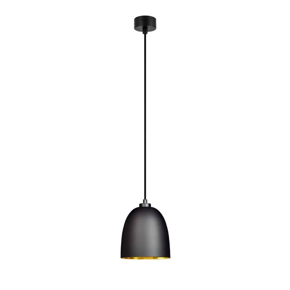 Sotto Luce Čierne matné stropné svietidlo s vnútrajškom v zlatej farbe Sotto Luce Awa
