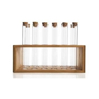 Set 12 nádobiek na korenie v bambusovom stojane Bambum Vanilla