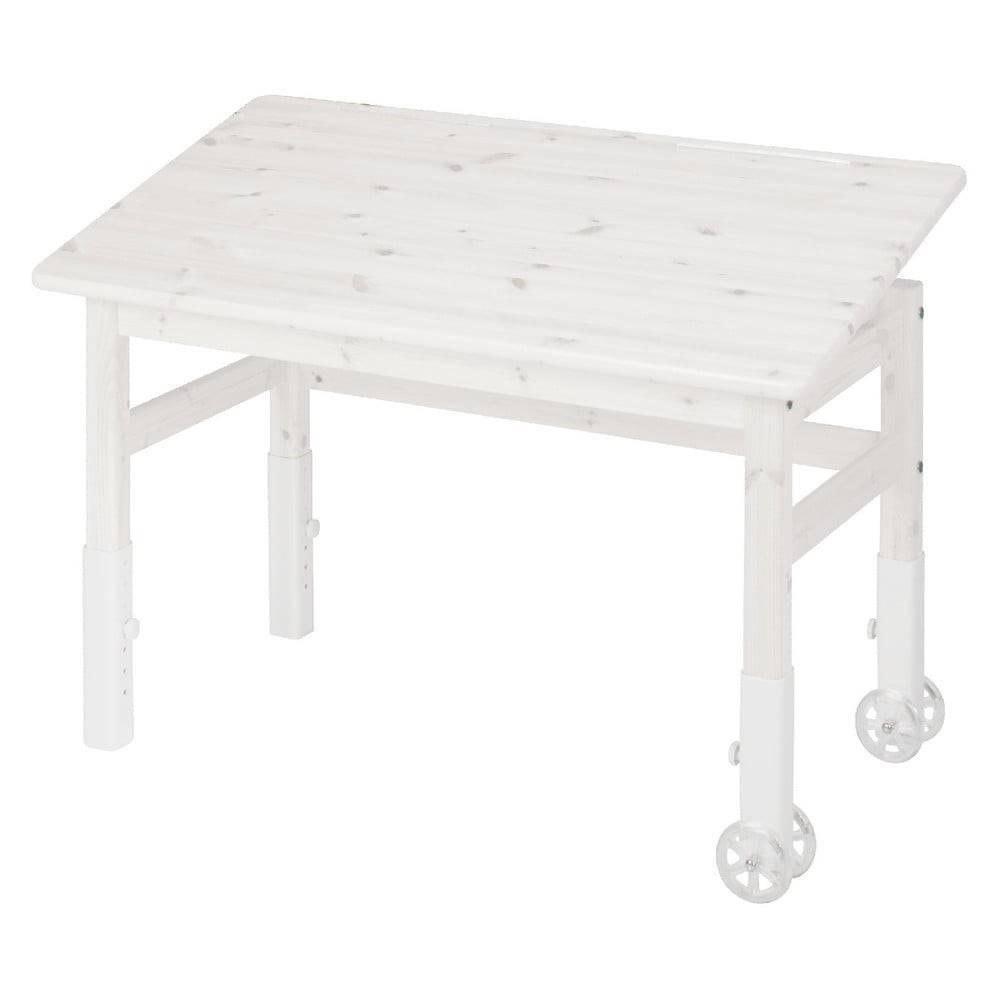 Flexa Biely písací stôl z borovicového dreva s náklopnou doskou Flexa Elegant