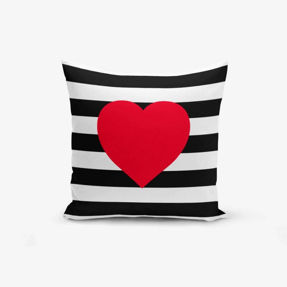 Minimalist Cushion Covers Obliečka na vankúš Minimalist Cushion Covers Navy Heart, 45 × 45 cm