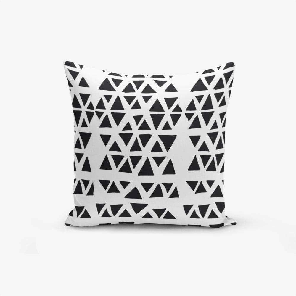 Minimalist Cushion Covers Obliečka na vankúš s prímesou bavlny Minimalist Cushion Covers Black Triangle Modern, 45×45 cm