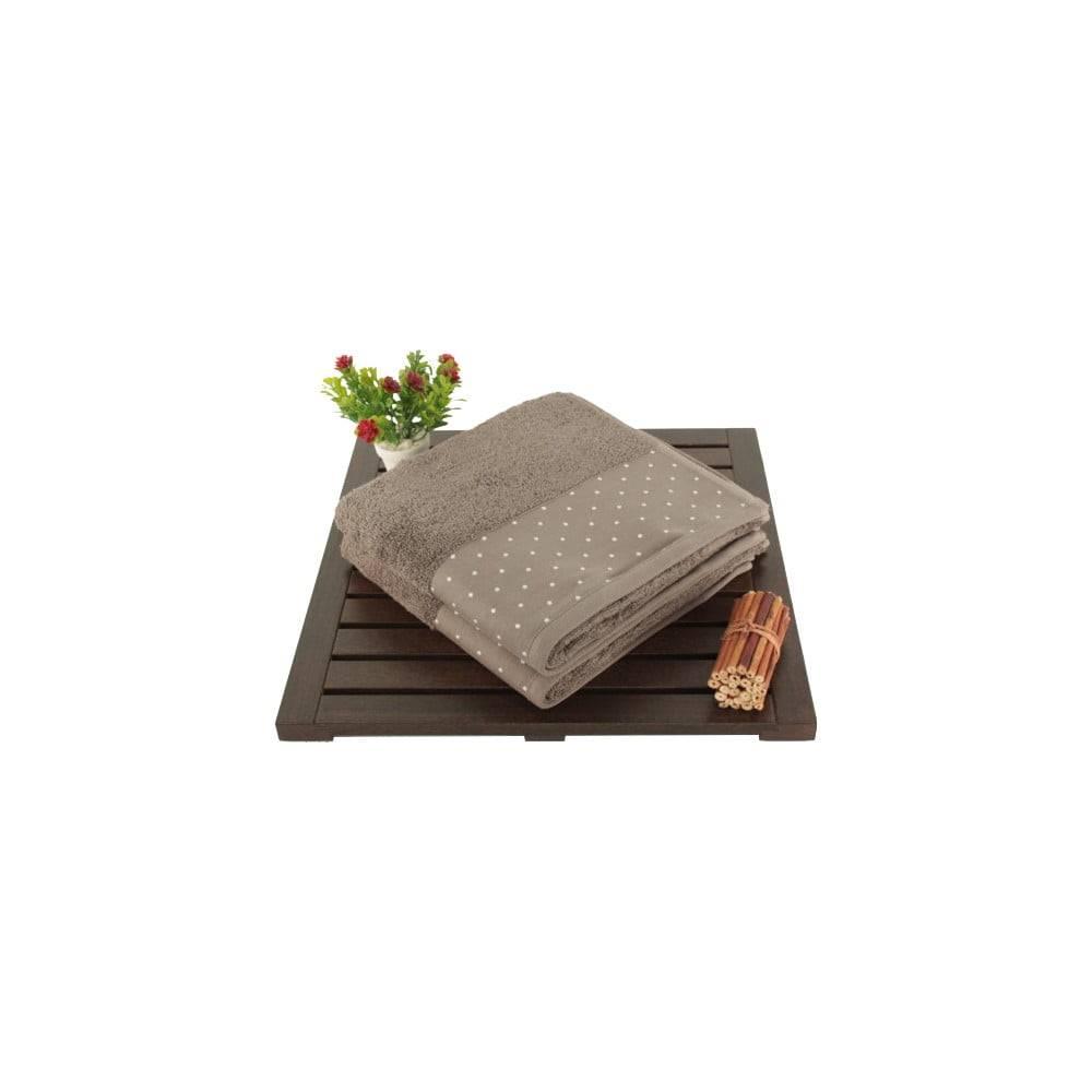 Şaheser Sada 2 hnedých bavlnených uterákov Patricia, 50 × 90 cm