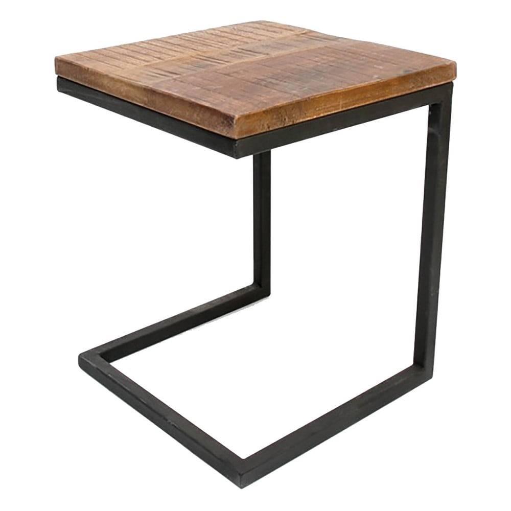 Čierny príručný stolík s do...