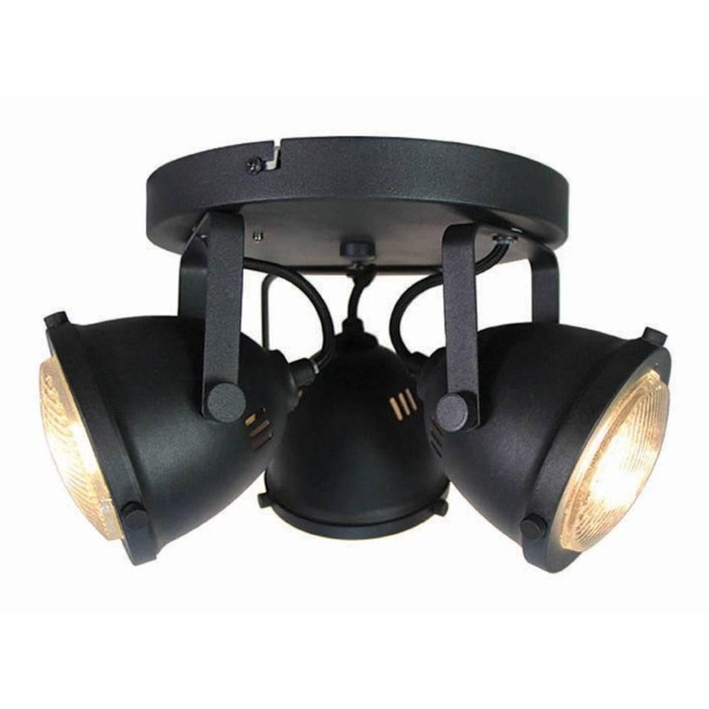 LABEL51 Čierne nástenné svietidlo LABEL51 Spot Moto Tres