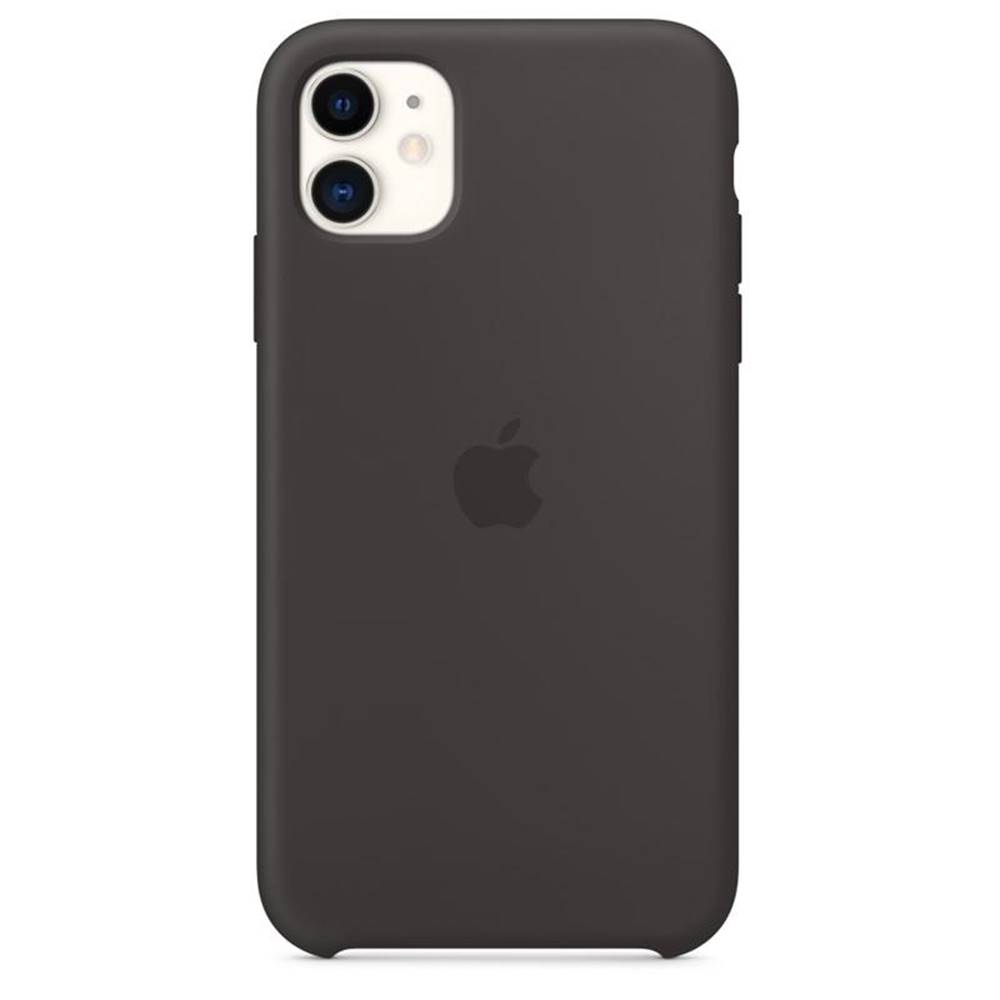 Apple Kryt na mobil Apple Silicone Case pro iPhone 11 čierny
