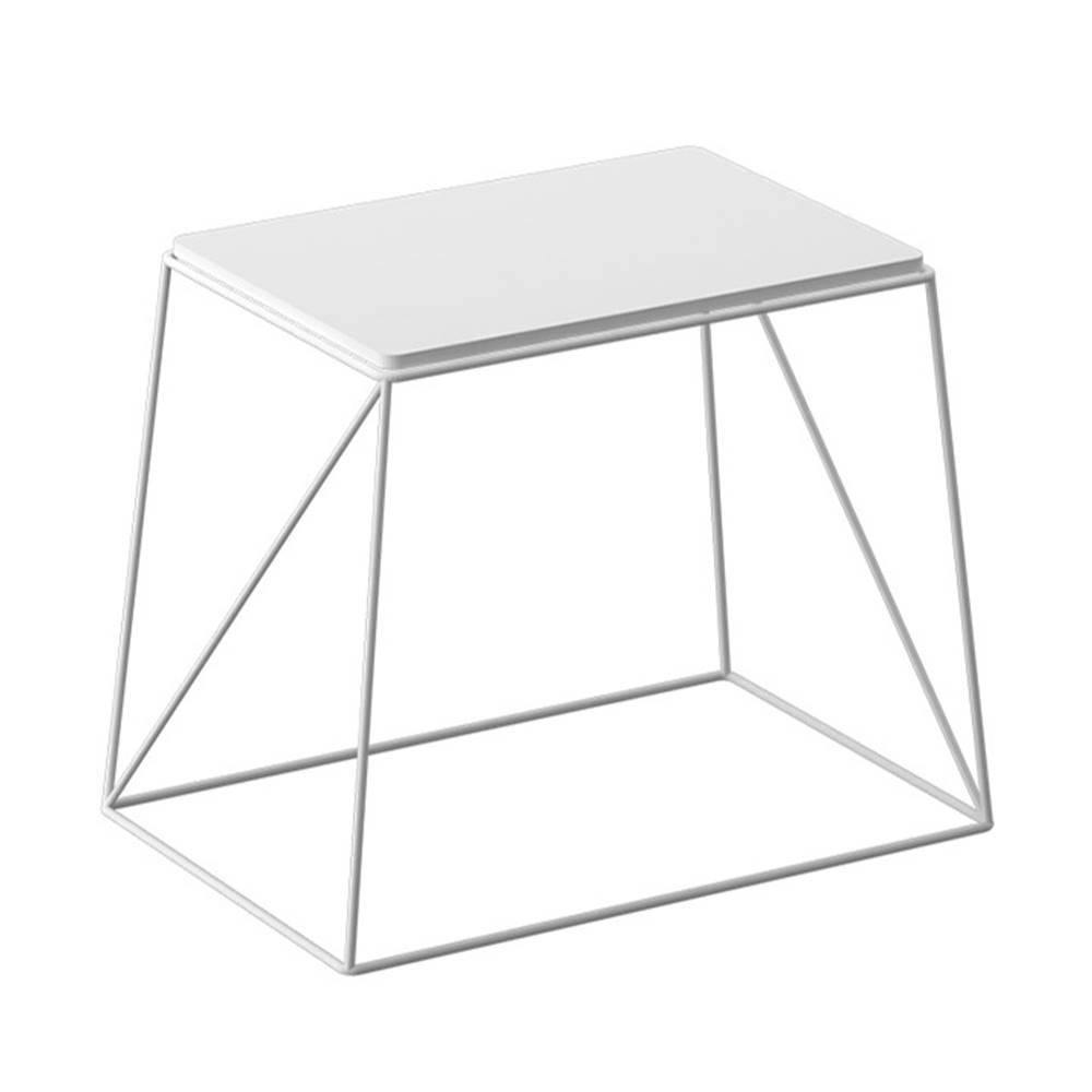 Tempo Kondela Príručný stolík biela KAREL - tovar 2.triedy