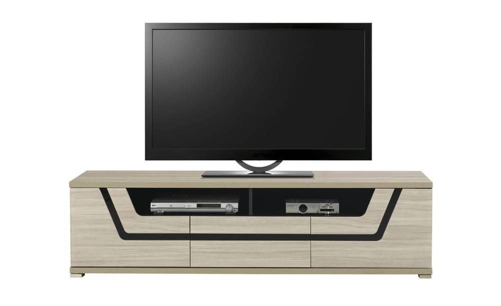 Sconto TV stolík BONN brest matný/čierna